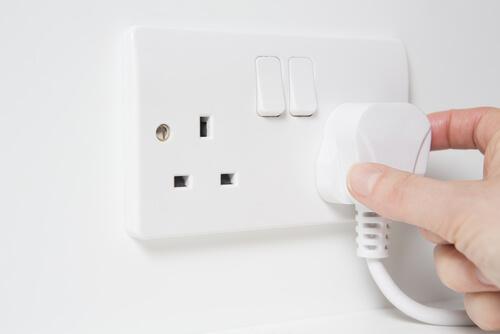 Switch off plug sockets